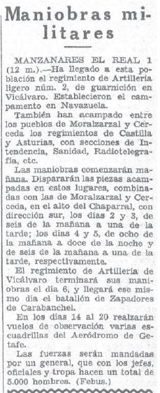 noticia de maniobras